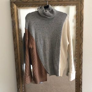 French Connection color block sweater S